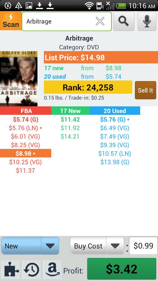 Amazon seller app Profit Bandit screenshot 1
