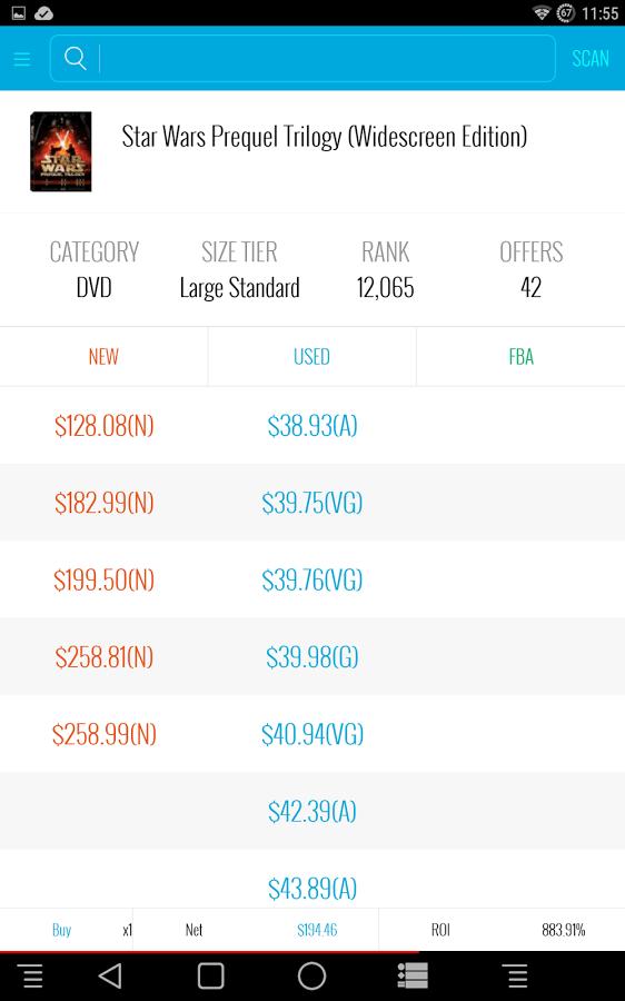 Amazon seller app Scoutify screenshot 1