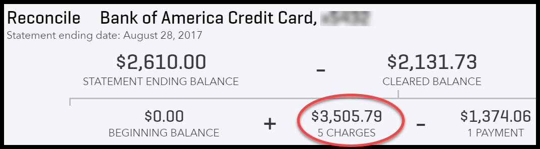 Verify Total Credit Card Charges Match Credit Card Statement