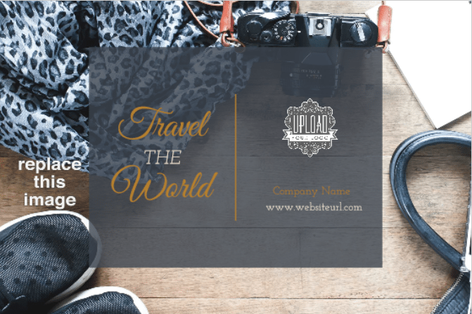 PsPrintTravelTheWorld-Free Postcard Templates