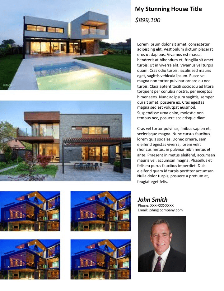 real estate flyers imagebased