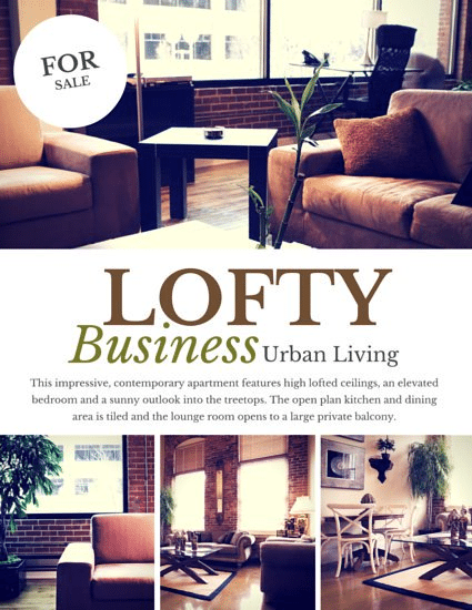 real Estate Flyers-Lofty Business UrbanLiving