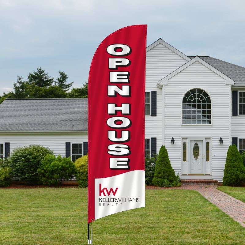 Feather Flags Open House Signs
