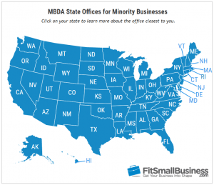 Map - Minority Small Business Grants