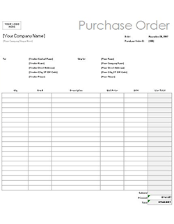 Elegant Free Purchase Order Template U0026 Instructions: How To Create A Purchase Order Regarding Purchase Order For Services Template