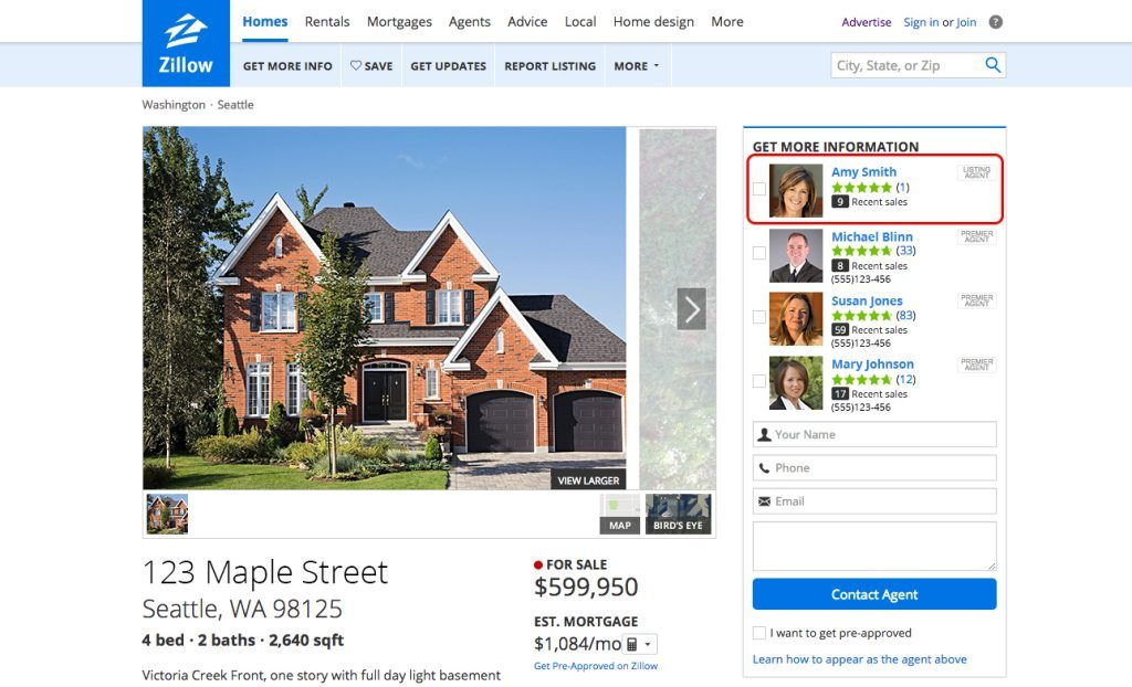 Zillow Premier Agent real estate software