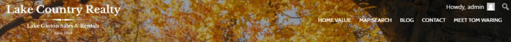 IDX Real Estate Websites -screenshot - header
