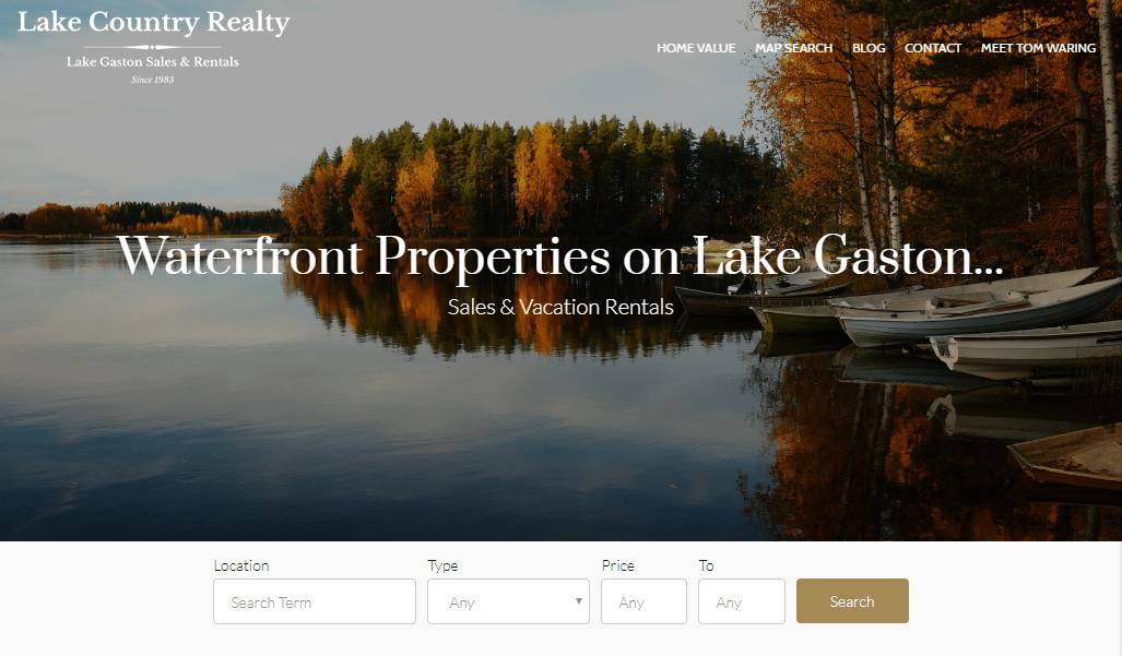 IDX Real Estate Websites - screenshot revolution slider