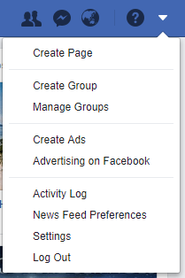 create a facebook business page with a personal account