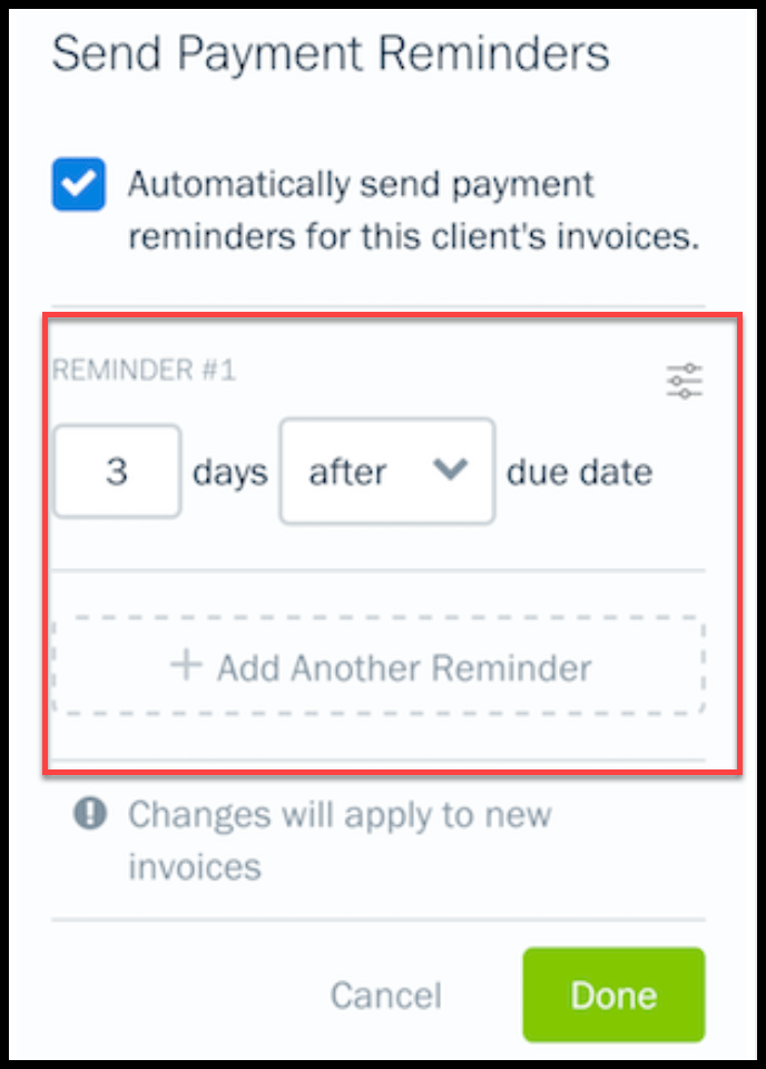Send Automatic Payment Reminders to Customers from FreshBooks