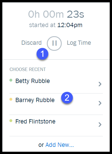Time Tracking Timer in FreshBooks
