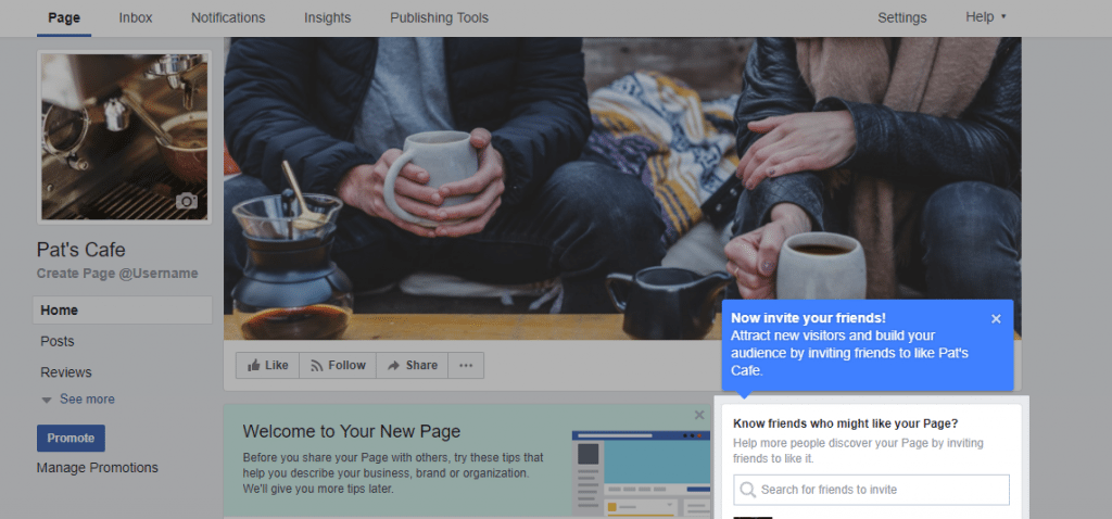 invite fans to your facebook business page