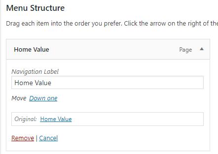 IDX Real Estate Websites -screenshot - menus