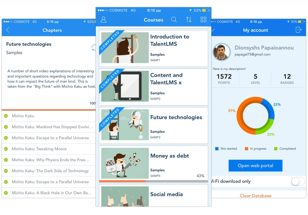 TalentLMS Learning Management System screencapture