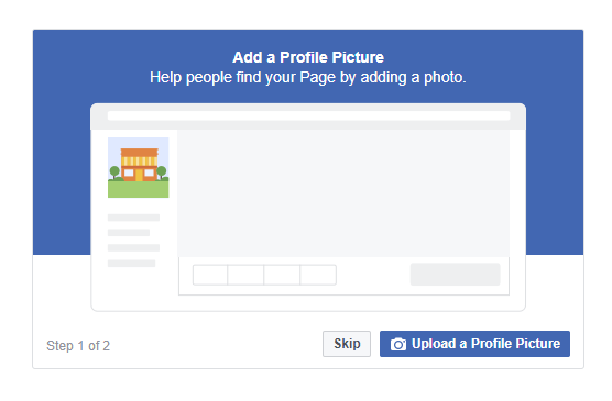 Add a high res profile pic to your facebook business page