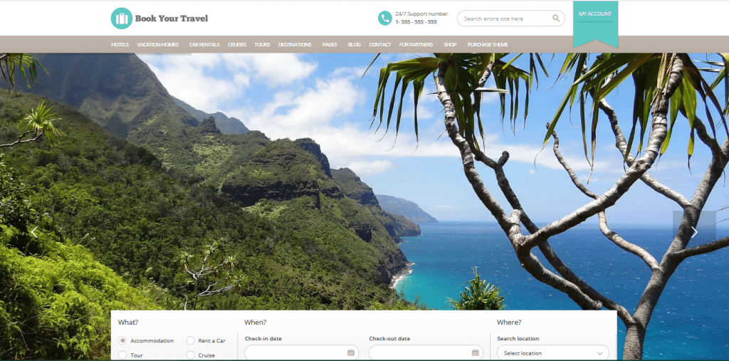 Book Your Travel wordpress travel themes