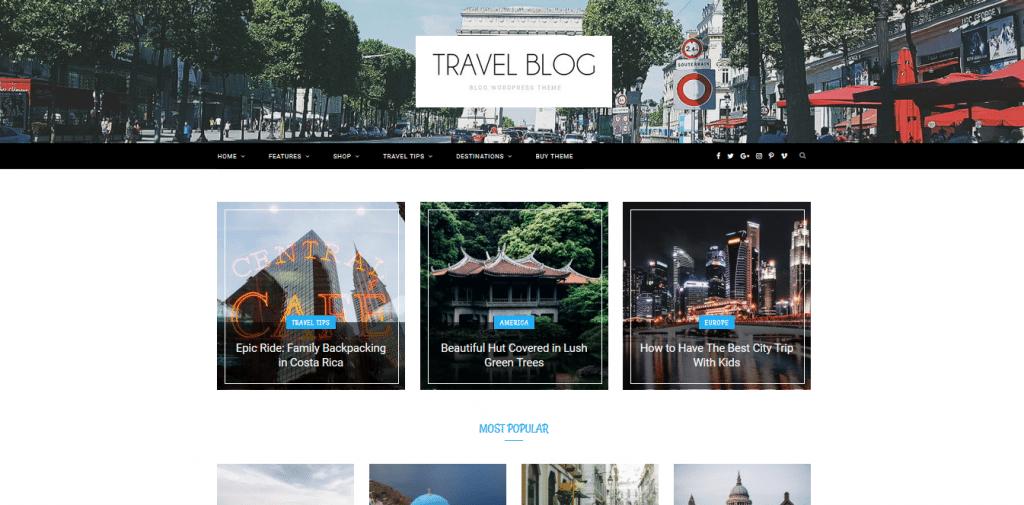 CheerUp wordpress travel themes