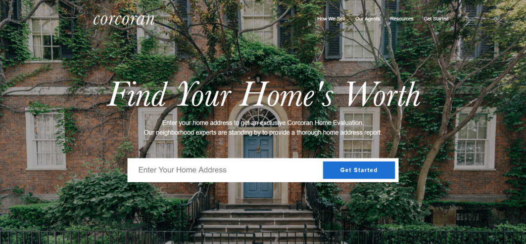 corcoran group Real estate landing page