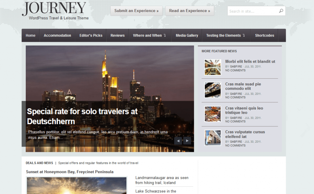 Journey wordpress travel themes