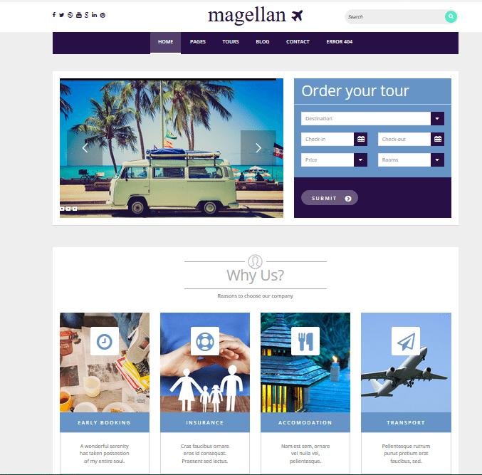 Magellan wordpress travel themes
