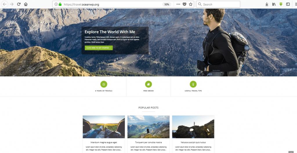 OceanWP wordpress travel themes