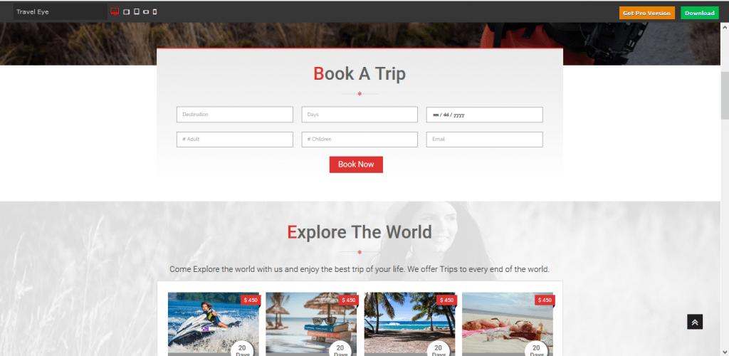 Travel Eye wordpress travel themes