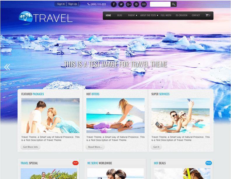 Travel wordpress travel themes