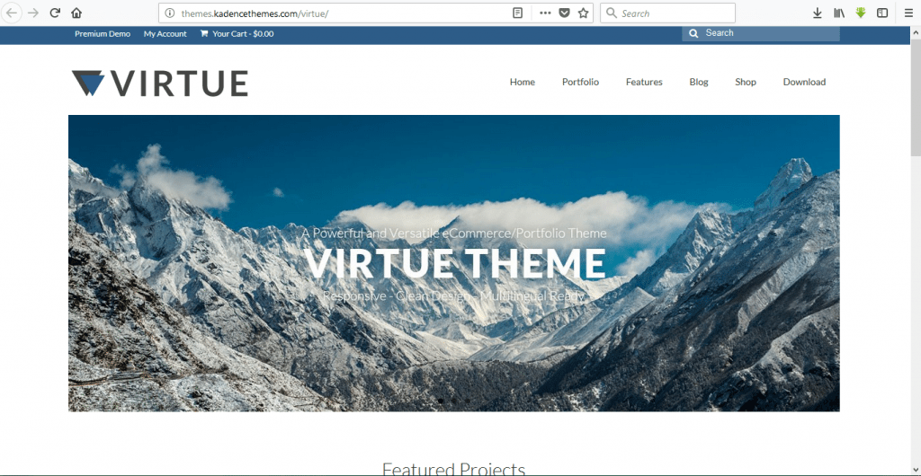 Virtue wordpress travel themes