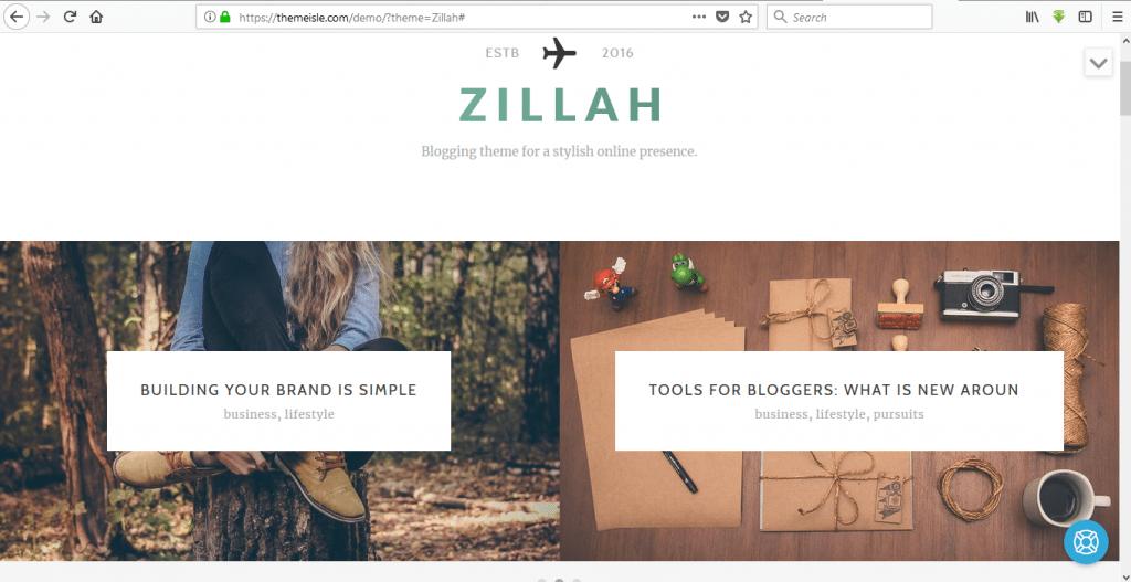 Zillah wordpress travel themes