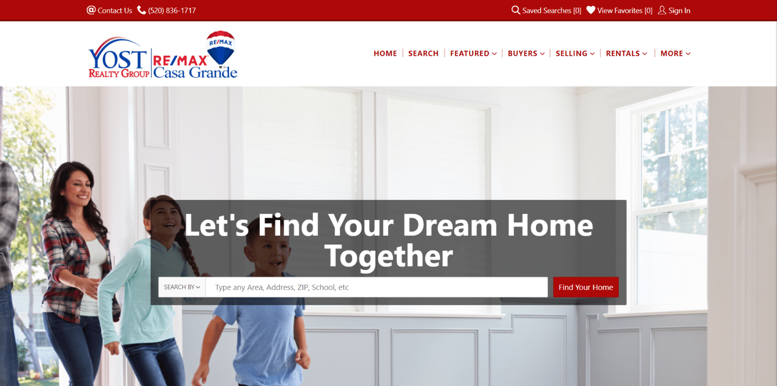 boomtown Real estate landing page
