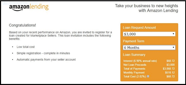 Amazon Lending - your invitation to borrow from Amazon