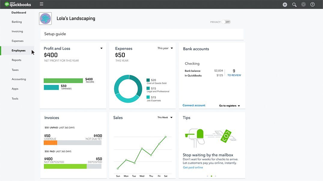 QuickBooks payroll software seamlessly integrates with their popular accounting service