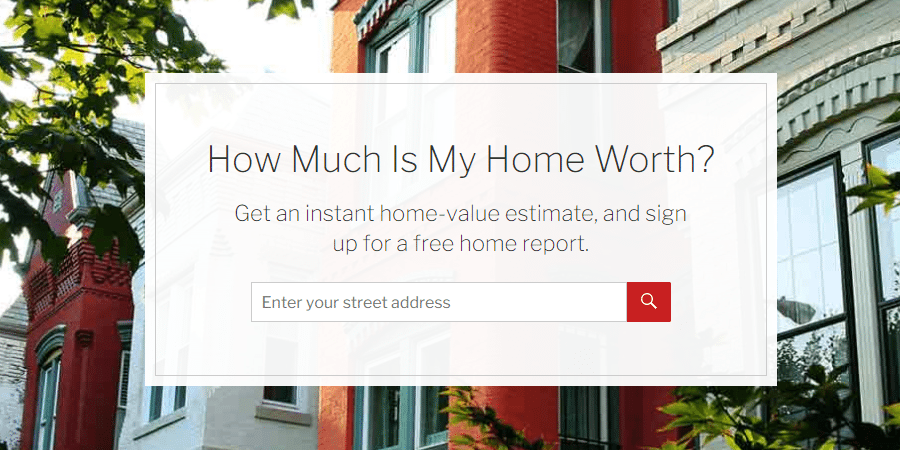 Real estate landing page- corcoran screenshot