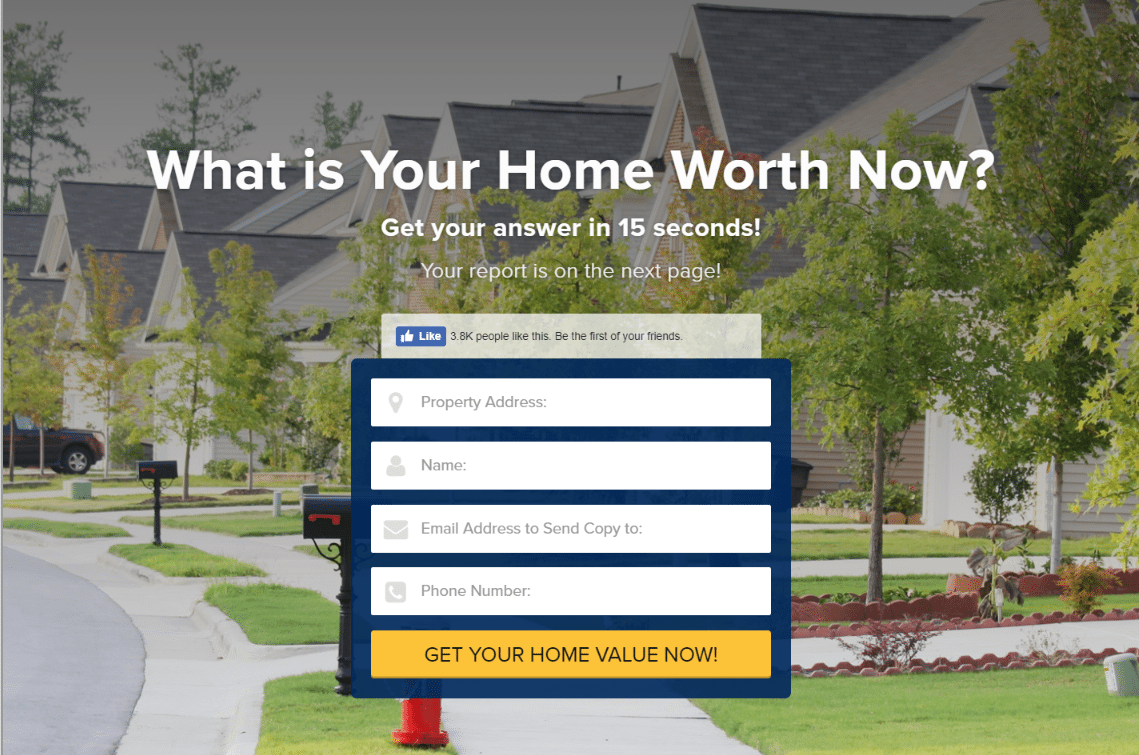 lori ballen Real estate landing page
