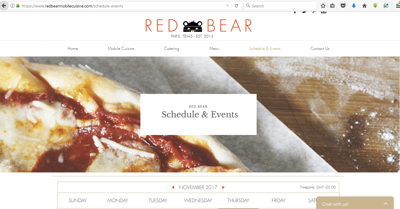 Create a website to market your food truck