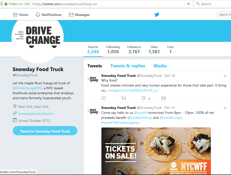 use social media to market your food truck