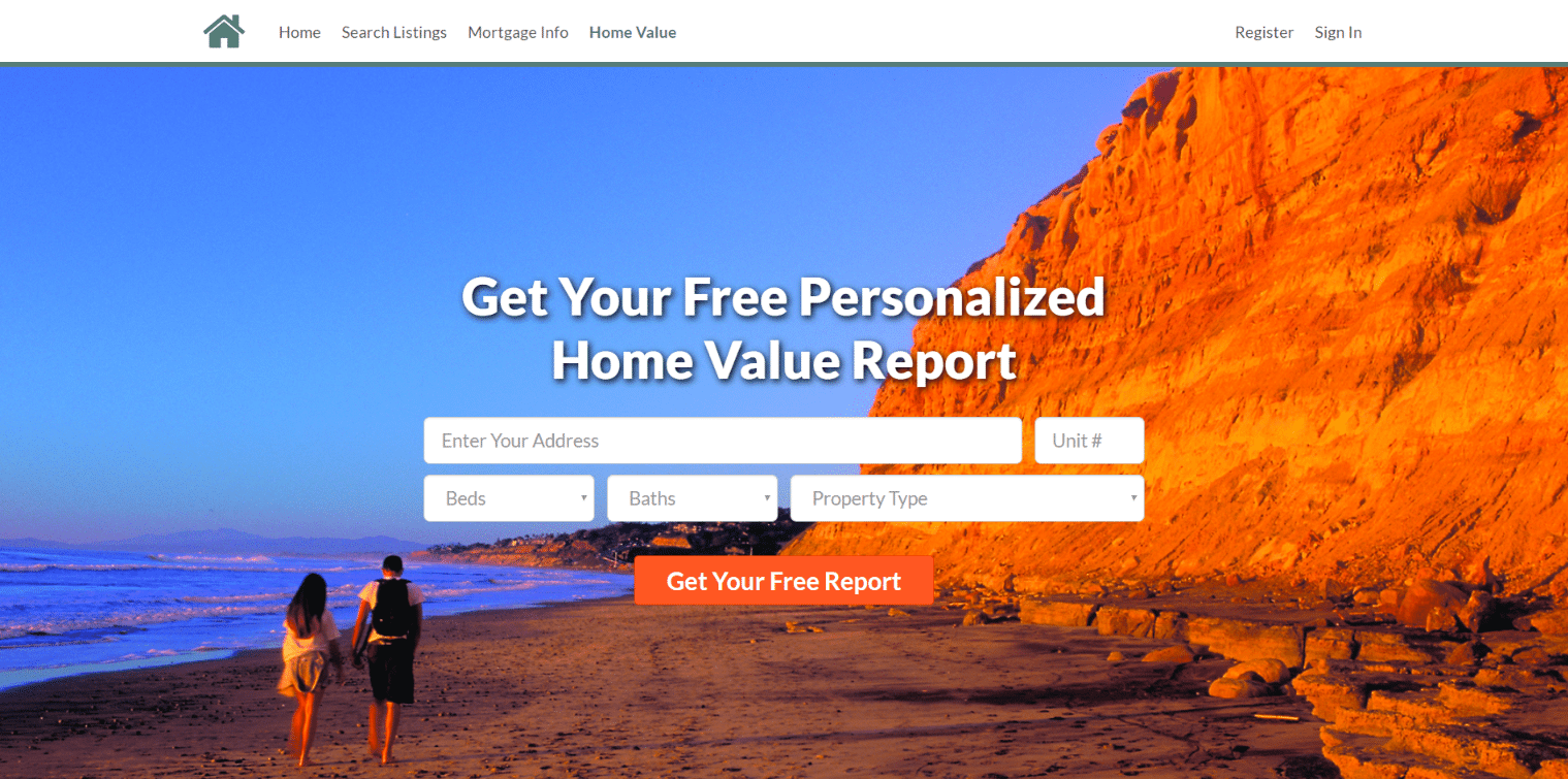 tigerlead Real estate landing page