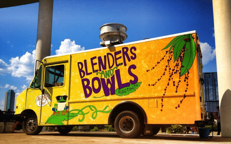 organic/health food concept for food truck