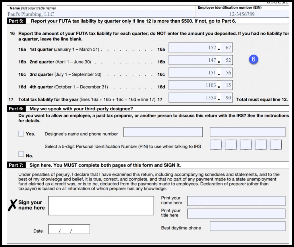 2018 Futa Tax Rate Form 940 Instructions