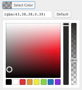 business website design: color selector