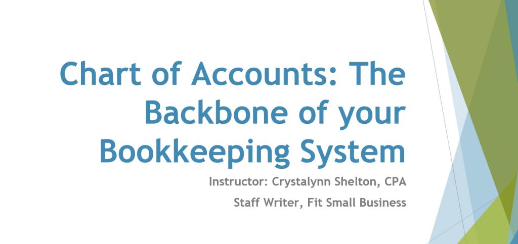 Chart of Accounts Webinar