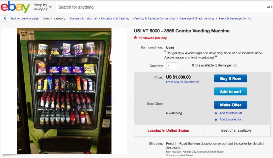 Screenshot of Combo Vending Machine