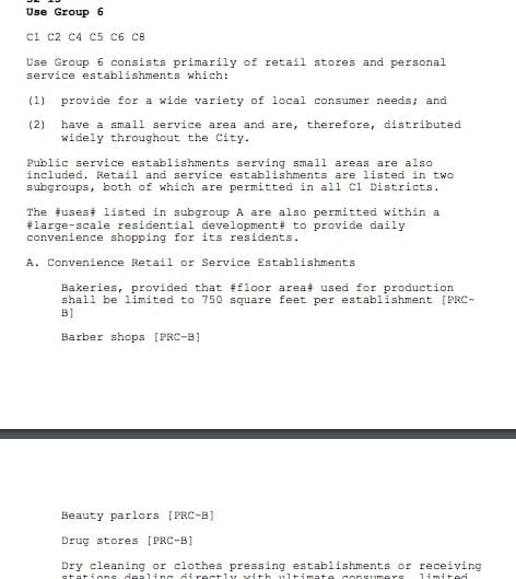Screenshot of Mapping Zoning Laws to Allowed Businesses Example
