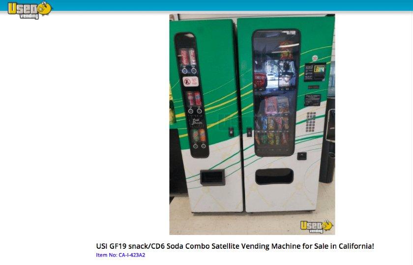 Screenshot of Used Snack and Soda Vending Machine