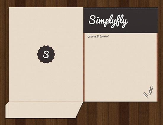 Simplyfly Pocket Folder Template - pocket folder templates