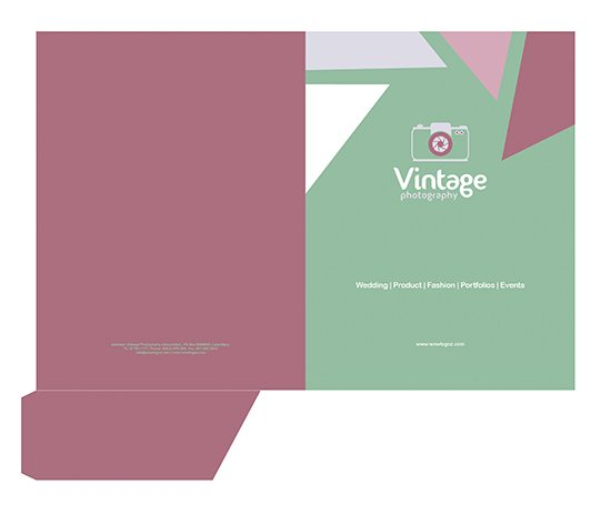 Print - pocket folder templates