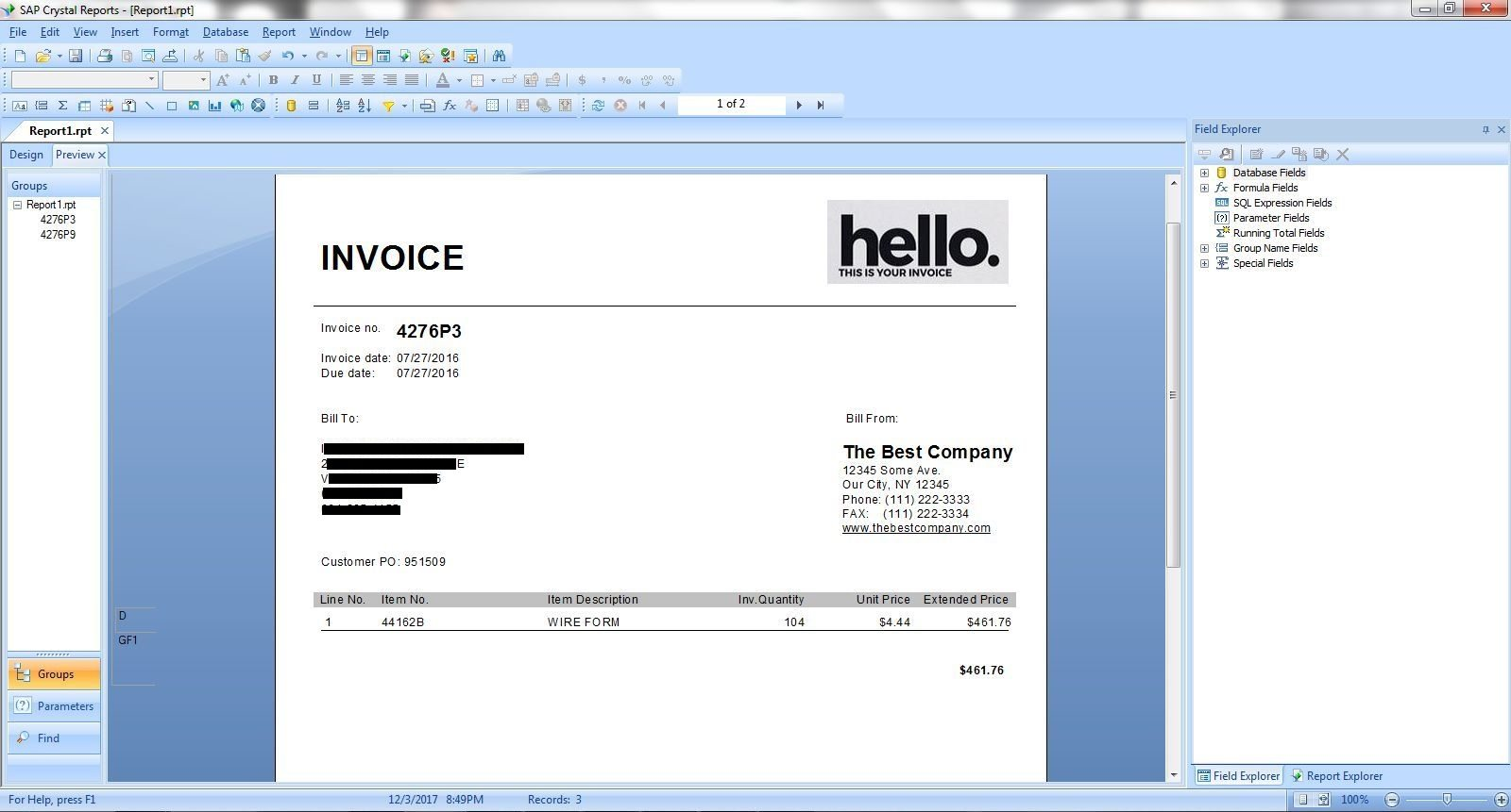 How to Create an Invoice Using SAP Crystal Reports