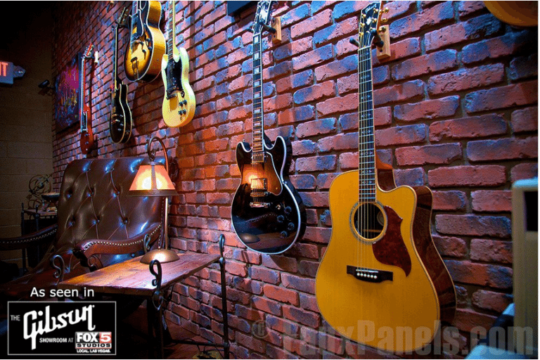 guitars used as unique wall decor