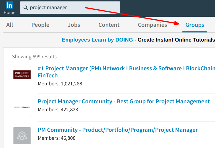 LinkedIn Groups Option - LinkedIn Premium