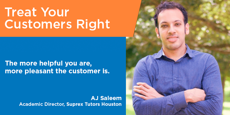 AJ Saleem customer service quotes tips from the pros